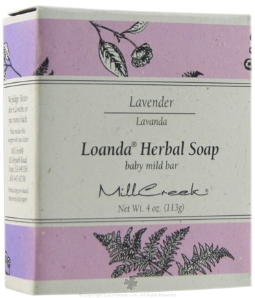 DROPPED: Mill Creek Botanicals - Loanda Herbal Soap Baby Mild Bar Lavender - 4 oz. CLEARANCE PRICED
