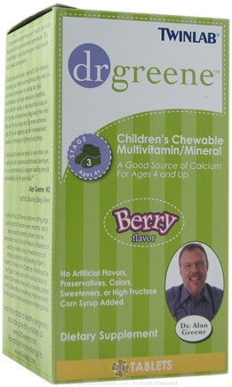 DROPPED: Dr. Greene - Childrens Chewable MultiVitamin/Mineral Berry Flavor - 50 Tablets