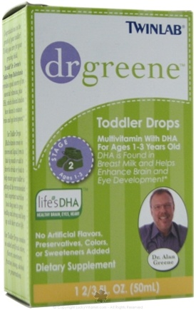 DROPPED: Dr. Greene - Toddler Drops Multivitamin with DHA - 1.7 oz. CLEARANCE PRICED