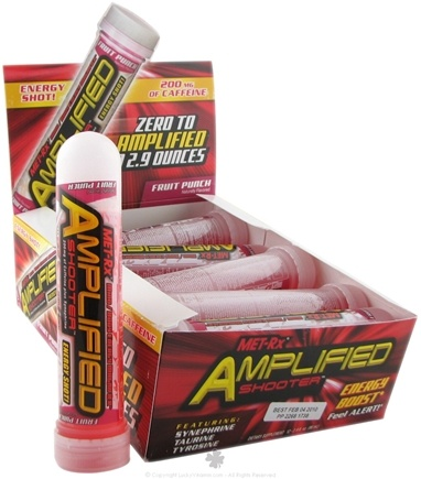 DROPPED: MET-Rx - Amplified Shooter Energy Shot Fruit Punch - 2.9 oz. CLEARANCE PRICED