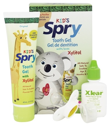 Xlear - Spry Infant Tooth Gel with Pacifier - 2 oz.