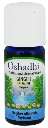 DROPPED: Oshadhi - Professional Aromatherapy Ginger Extra Fine Organic Essential Oil - 10 ml. CLEARANCE PRICED
