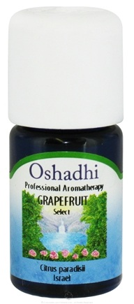 DROPPED: Oshadhi - Professional Aromatherapy Grapefruit Select Essential Oil - 5 ml. CLEARANCE PRICED