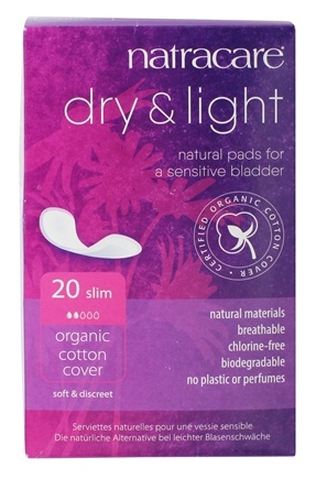Natracare - Organic Cotton Dry & Light Natural Incontinence Pads - 20 Pad(s)
