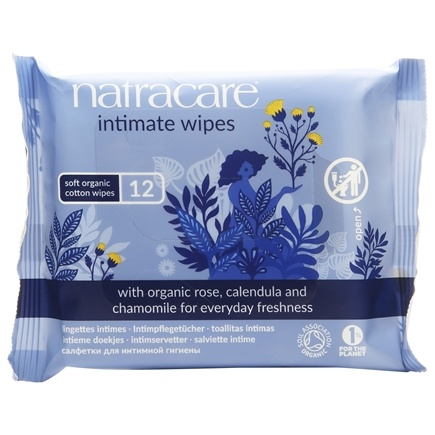 Natracare - Organic Cotton Intimate Wipes - 12 Wipe(s)
