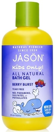 DROPPED: JASON Natural Products - Kids Only All Natural Bath Gel Berry Burst - 8 oz.