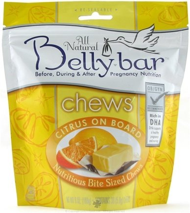 DROPPED: Belly Bar - All Natural Nutritious Bite Sized Chews Citrus On Board - 30 Chews