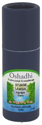 DROPPED: Oshadhi - Professional Aromatherapy Jasmine Sambac Absolute Select Essential Oil - 1 ml. CLEARANCE PRICED
