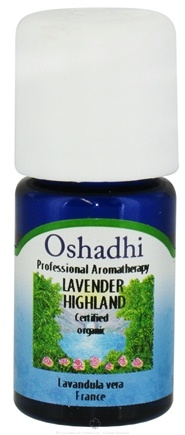 DROPPED: Oshadhi - Professional Aromatherapy Highland Lavender Certified Organic Essential Oil - 5 ml. CLEARANCE PRICED