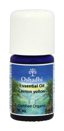 DROPPED: Oshadhi - Professional Aromatherapy Yellow Lemon Extra Certified Organic Essential Oil - 5 ml.