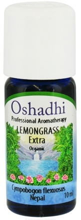 DROPPED: Oshadhi - Professional Aromatherapy Lemongrass Extra Organic Essential Oil - 10 ml. CLEARANCE PRICED