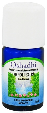 DROPPED: Oshadhi - Professional Aromatherapy Neroli Extra Super Organic Essential Oil - 1 ml. CLEARANCE PRICED