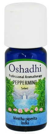 DROPPED: Oshadhi - Professional Aromatherapy Peppermint Select Essential Oil - 10 ml. CLEARANCE PRICED