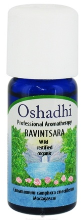 DROPPED: Oshadhi - Professional Aromatherapy Wild Ravintsara Certified Organic Essential Oil - 10 ml. CLEARANCE PRICED