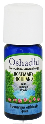 DROPPED: Oshadhi - Professional Aromatherapy Wild Highland Rosemary Certified Organic Essential Oil - 10 ml. CLEARANCE PRICED