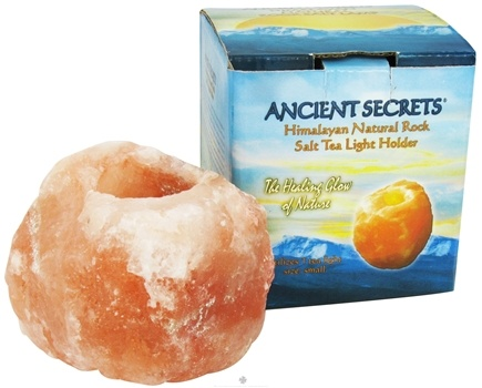 DROPPED: Ancient Secrets - Himalayan Natural Rock Salt Tea Light Holder Small Size - 3 lbs. CLEARANCE PRICED