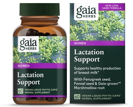DROPPED: Gaia Herbs - Lactate Support Liquid Phyto Caps - 60 Vegetarian Capsules CLEARANCE PRICED