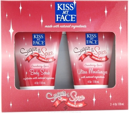 DROPPED: Kiss My Face - Sugar & Spice & Naturally Nice Body Scrub & Moisturizer Gift Set Cranberry Spice
