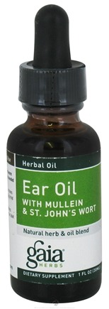 DROPPED: Gaia Herbs - Ear Oil with Mullein and Saint John's Wort - 1 oz. CLEARANCE PRICED