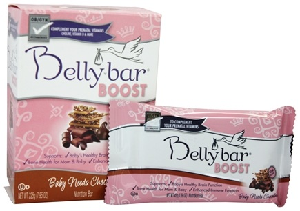 DROPPED: Belly Bar - Boost Nutrition Bar Baby Needs Chocolate Chocolate Toffee Crisp - 5 Bars