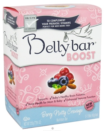 DROPPED: Belly Bar - Boost Nutrition Bar Berry Nutty Cravings Yogurt Berry Crunch - 5 Bars CLEARANCE PRICED