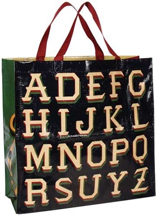 DROPPED: Blue Q - Alphabet Shopper Bag - CLEARANCE PRICED