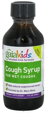 DROPPED: Gaia Herbs - Gaia Kids Children Cough Syrup for Wet Coughs 60ml - 2 oz. CLEARANCE PRICED