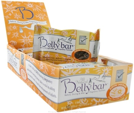 DROPPED: Belly Bar - All Natural Burstin Chocolate Snack Bars Deep Chocolate Orange - 1 Bars