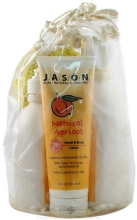 DROPPED: Jason Natural Products - Natural Apricot Hand and Body Lotion Wash Set - 1 Gift Set