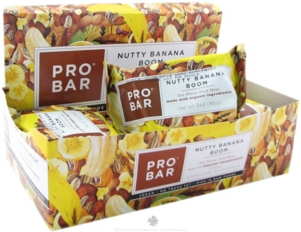 DROPPED: Pro Bar - Whole Food Meal Bar Original Collection Nutty Banana Boom - 3 oz.
