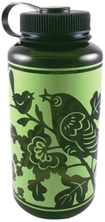 DROPPED: Blue Q - Water Bottle Green Bird - 32 oz.