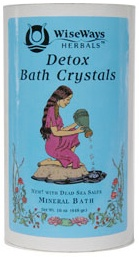 DROPPED: Wise Ways - Detox Bath Crystals Mineral Bath With Dead Sea Salts - 16 oz. CLEARANCE PRICED