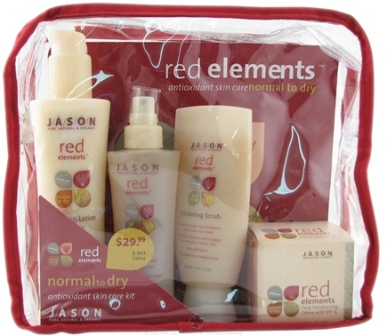 DROPPED: Jason Natural Products - Red Elements Antioxidant Skin Care Set for Normal to Dry Skin