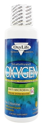 OxyLife Products - Oxygen with Colloidal Silver and Aloe Vera Orange Pineapple - 16 oz.