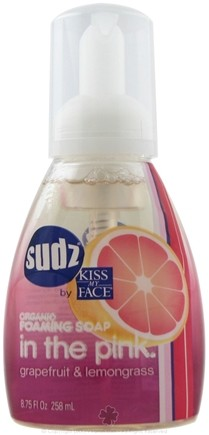 DROPPED: Kiss My Face - Sudz Organic Foaming Soap In The Pink Grapefruit & Lemongrass - 8.75 oz. CLEARANCE PRICED