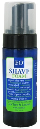 DROPPED: EO Products - Shave Foam Tea Tree and Lemon with Menthol - 5 oz.