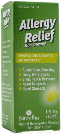 NatraBio - Allergy Relief - 1 oz.