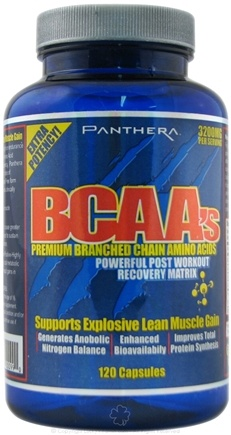DROPPED: Panthera Labs - BCAA's Premium Branched Chain Amino Acids - 120 Capsules