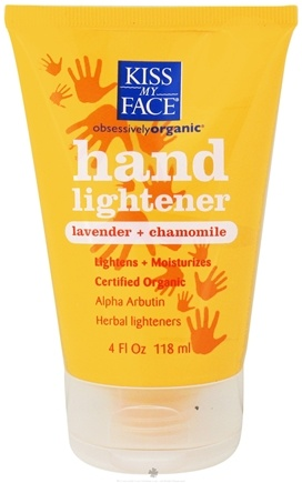DROPPED: Kiss My Face - Hand Lightener Certified Organic Lavender & Chamomile - 4 oz. CLEARANCE PRICED