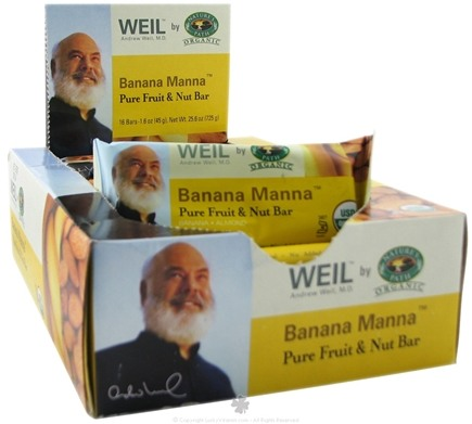 DROPPED: Nature's Path Organic - Weil Pure Fruit and Nut Bar Banana Manna - 1.6 Bars