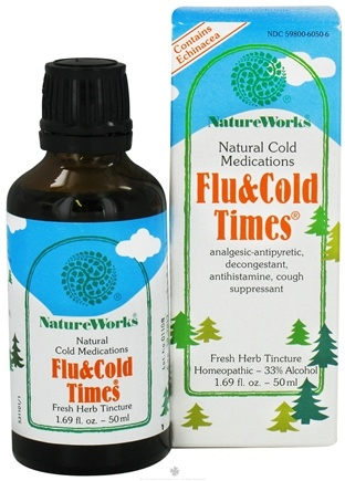 DROPPED: NatureWorks - Flu and Cold Times Natural Cold Medication - 1.69 oz.