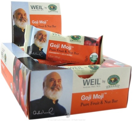 DROPPED: Nature's Path Organic - Weil Organic Pure Fruit and Nut Bar Goji Moji - 1.6 Bars