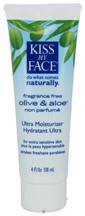 DROPPED: Kiss My Face - Ultra Moisturizer Olive & Aloe Fragrance Free - 4 oz.