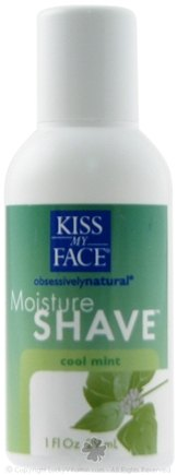 DROPPED: Kiss My Face - Obsessively Natural Moisture Shave Cool Mint - 1 oz.
