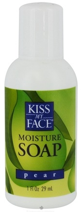 DROPPED: Kiss My Face - Liquid Moisture Soap Pear - 1 oz. CLEARANCE PRICED