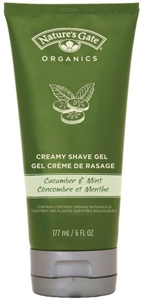 DROPPED: Nature's Gate - Creamy Shave Gel Cucumber and Mint - 6 oz.