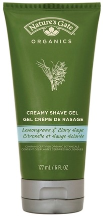 DROPPED: Nature's Gate - Creamy Shave Gel Lemongrass and Clary Sage - 6 oz. CLEARANCE PRICED