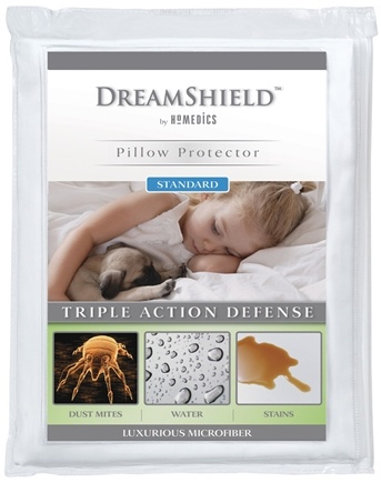 DROPPED: HoMedics - DreamShield Standard Size Pillow Protector DSH-PPS - CLEARANCE PRICED