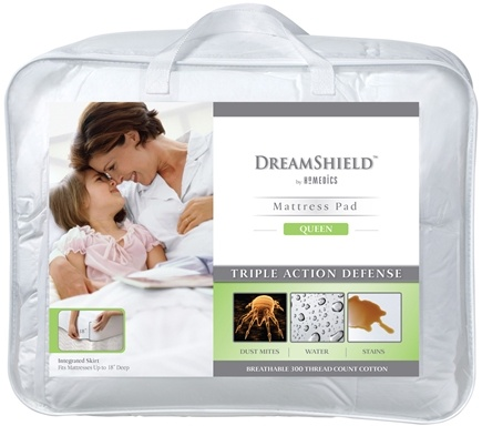 DROPPED: HoMedics - DreamShield Queen Size Mattress Pad DSH-PADQ - CLEARANCE PRICED