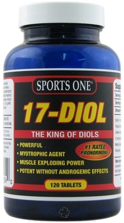 DROPPED: Sports One - 17-Diol Prohormone - 120 Tablets